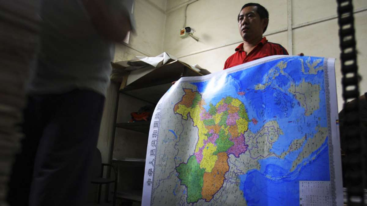 "The China's Qingdao Customs officials found 28,908 maps to be ""seriously problematic"" when they were examined."