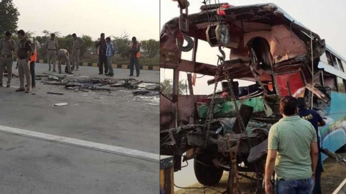 8 dead, 30 injured after a tourist bus rams a truck on Yamuna Expressway