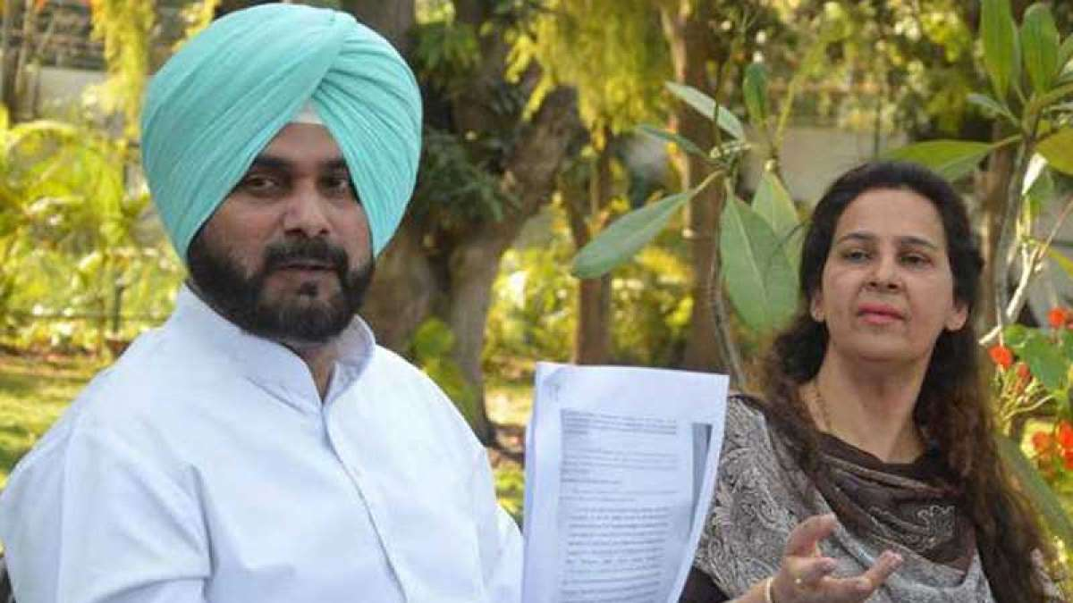 Cricketer-turned-politician Navjot Singh Sidhu and his wife