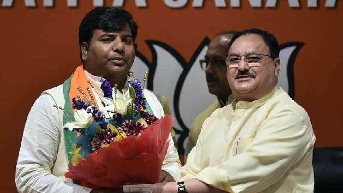 Lok Sabha Election 2019: Praveen Nishad with Union Minister JP Nadda
