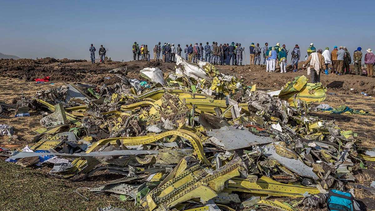 A sensor of the Boeing plane had been damaged at take off