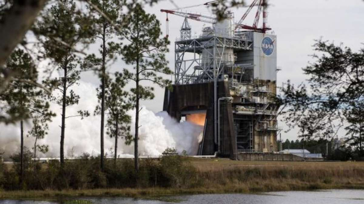 NASA has fired up its RS-25 engine at 3:35 p.m today