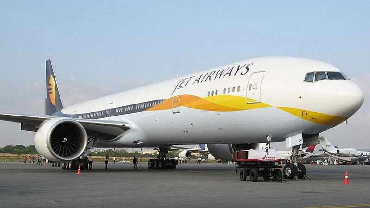 Jet Airways plane on the airport