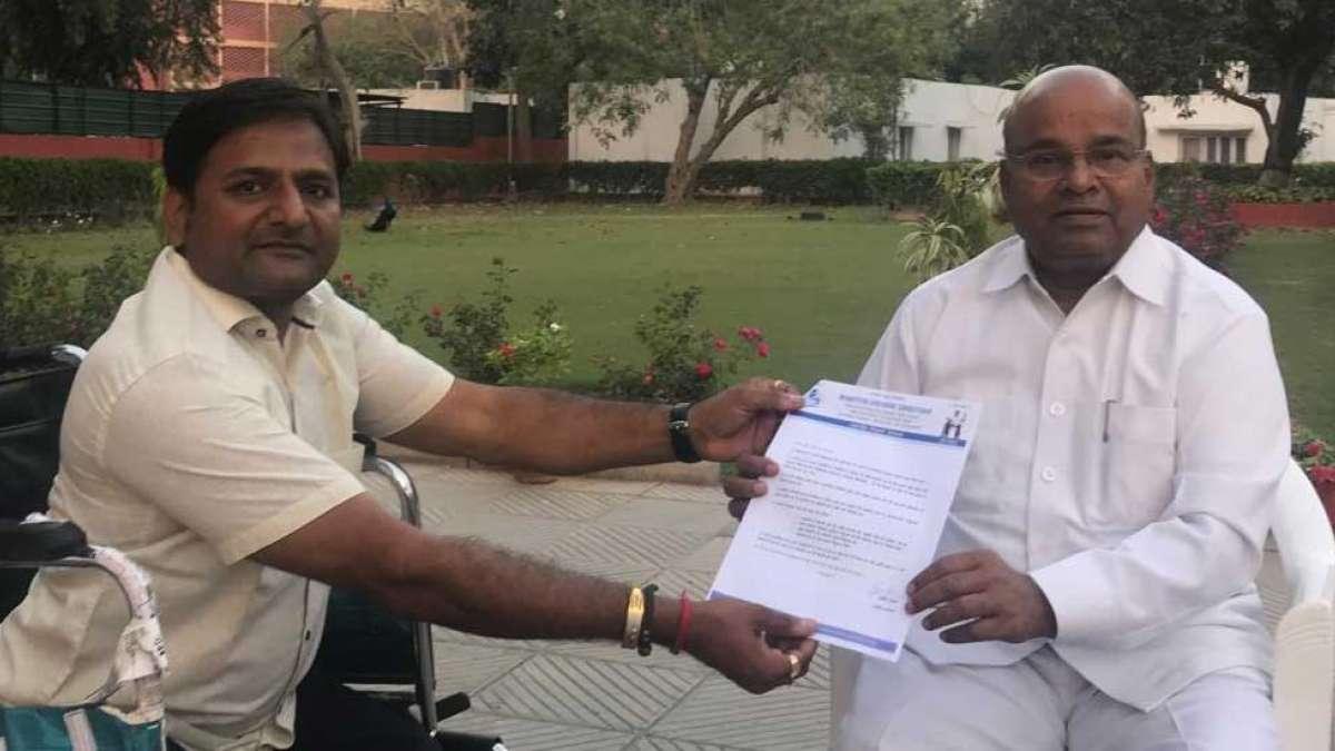 'Divyang Manifesto' reaches Union Minister ahead of Lok Sabha Polls 2019