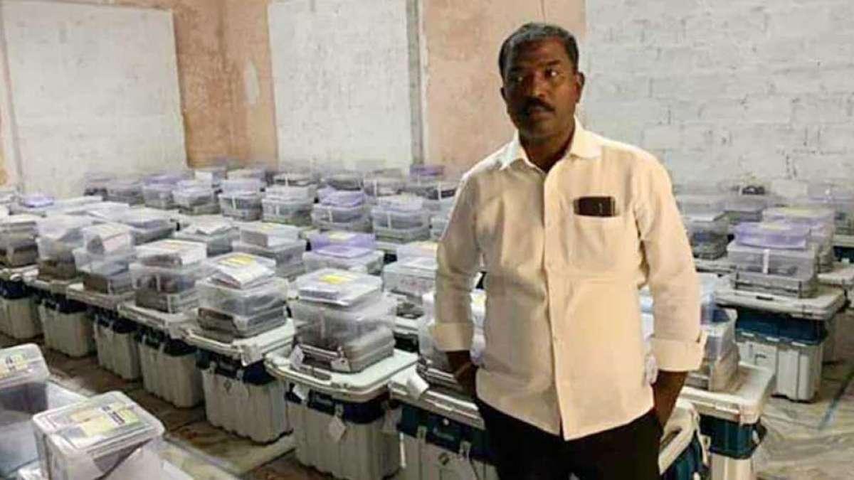 TRS polling agent arrested for clicking photo inside EVM strongroom