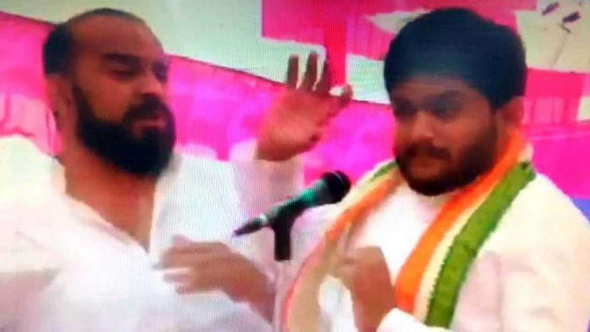Watch: BJP worker slapped Hardik Patel in Gujarat