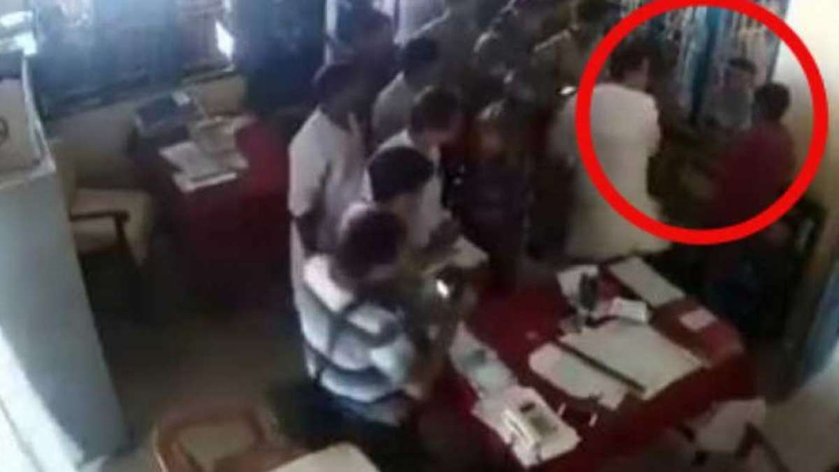 Watch: Tripura Congress president slaps man inside police station