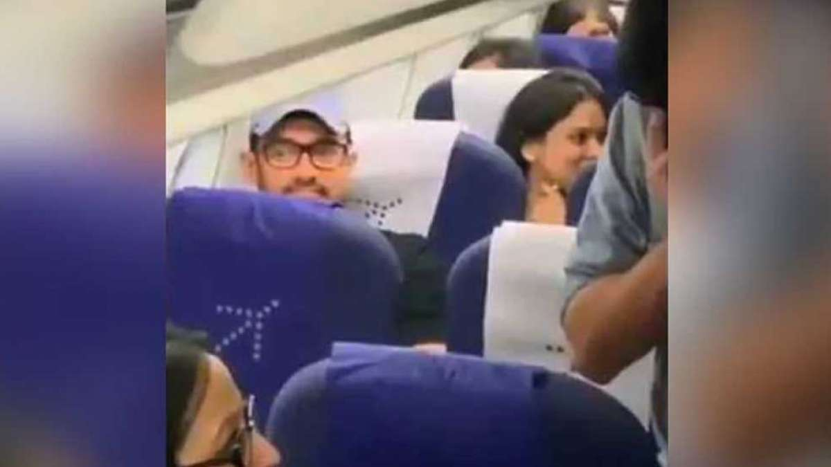 Watch: Aamir Khan travels economy class, people love his simplicity