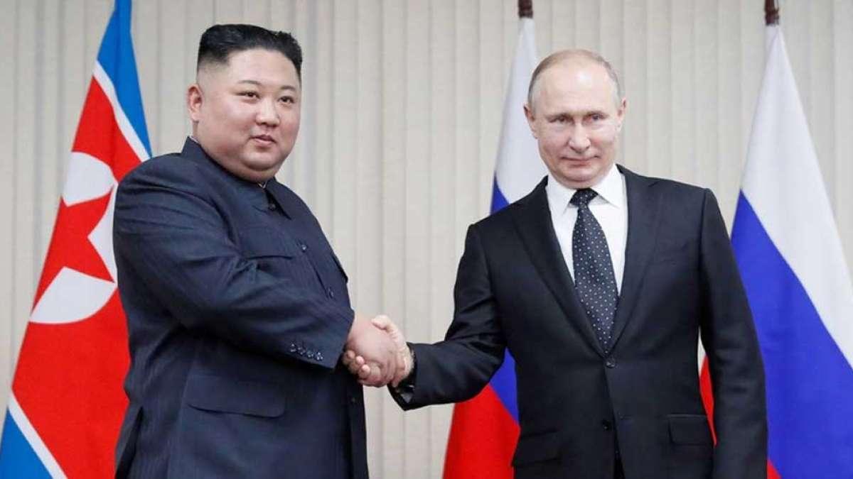 Kim Jong Un, Vladimir Putin seek closer ties at their first talks