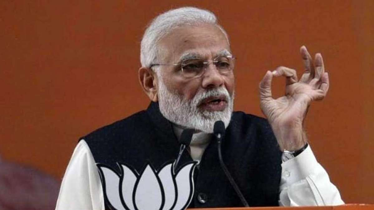 Prime Minister Narendra Modi during an election rally