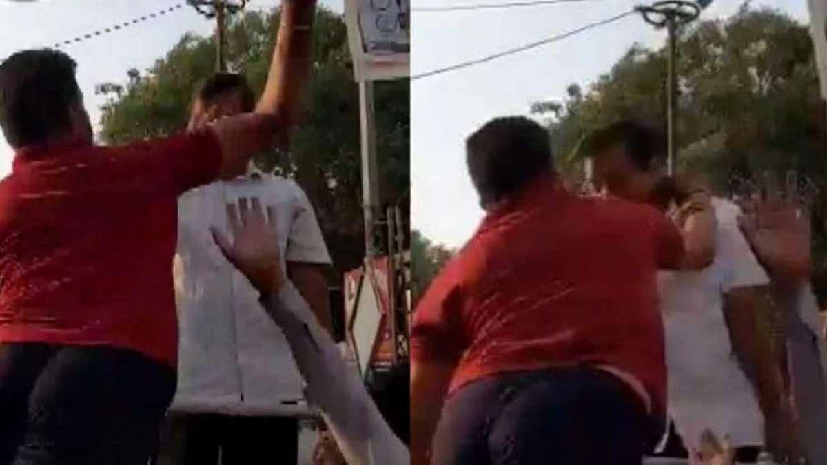 Delhi Chief Minister Arvind Kejriwal slapped in Moti Nagar