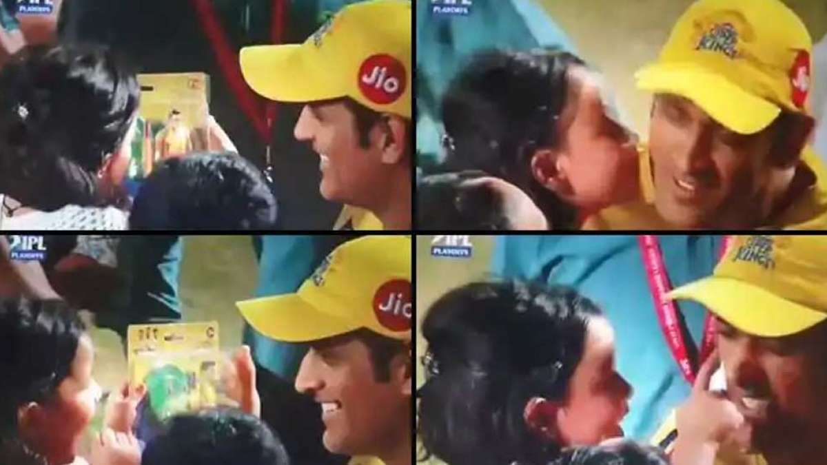 IPL 2019: Showering kisses as Dhoni fixes final battle against Mumbai Indians