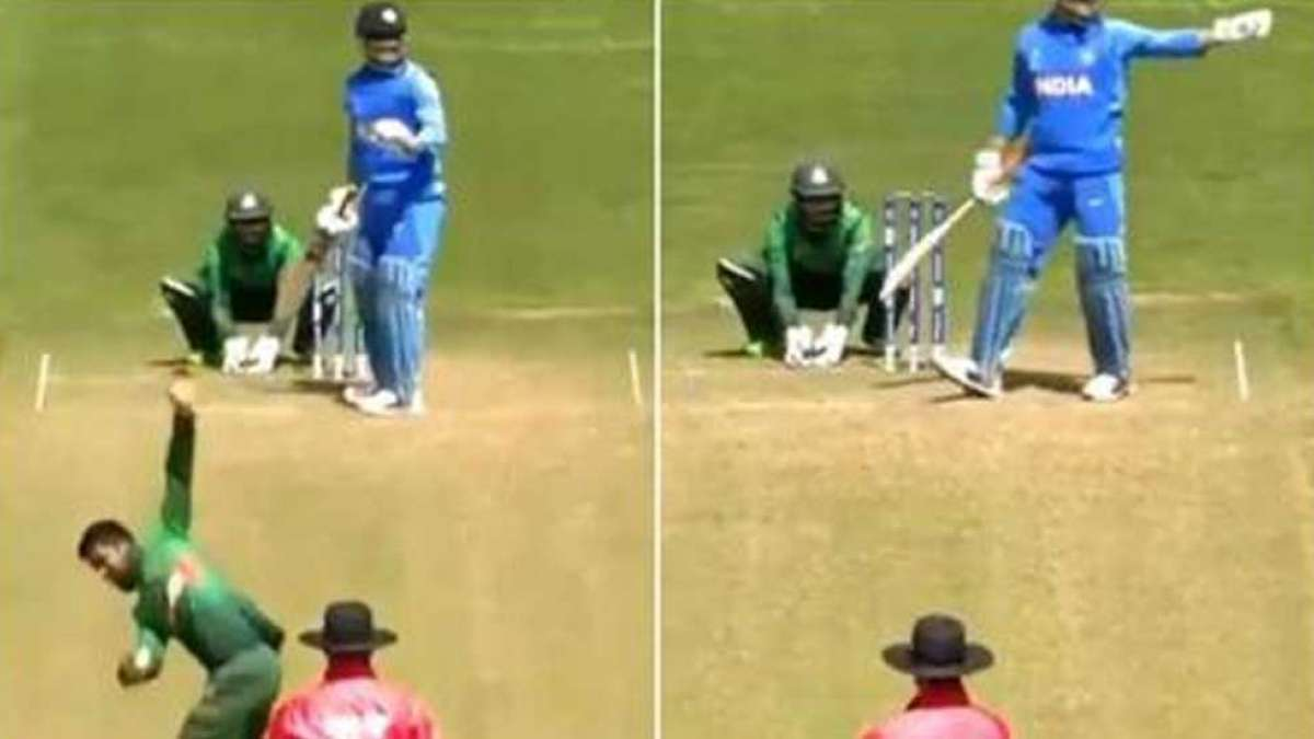 MS Dhoni stops bowler in-between to adjust field for Bangladesh