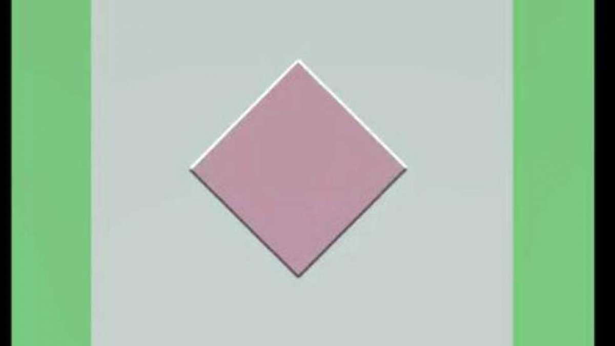 Optical illusion of a moving diamond is a must watch