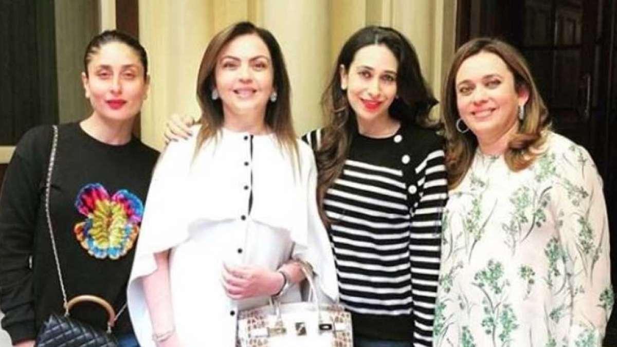 Kareena Kapoor Khan, Karisma Kapoor twin in black with Nita Ambani in London
