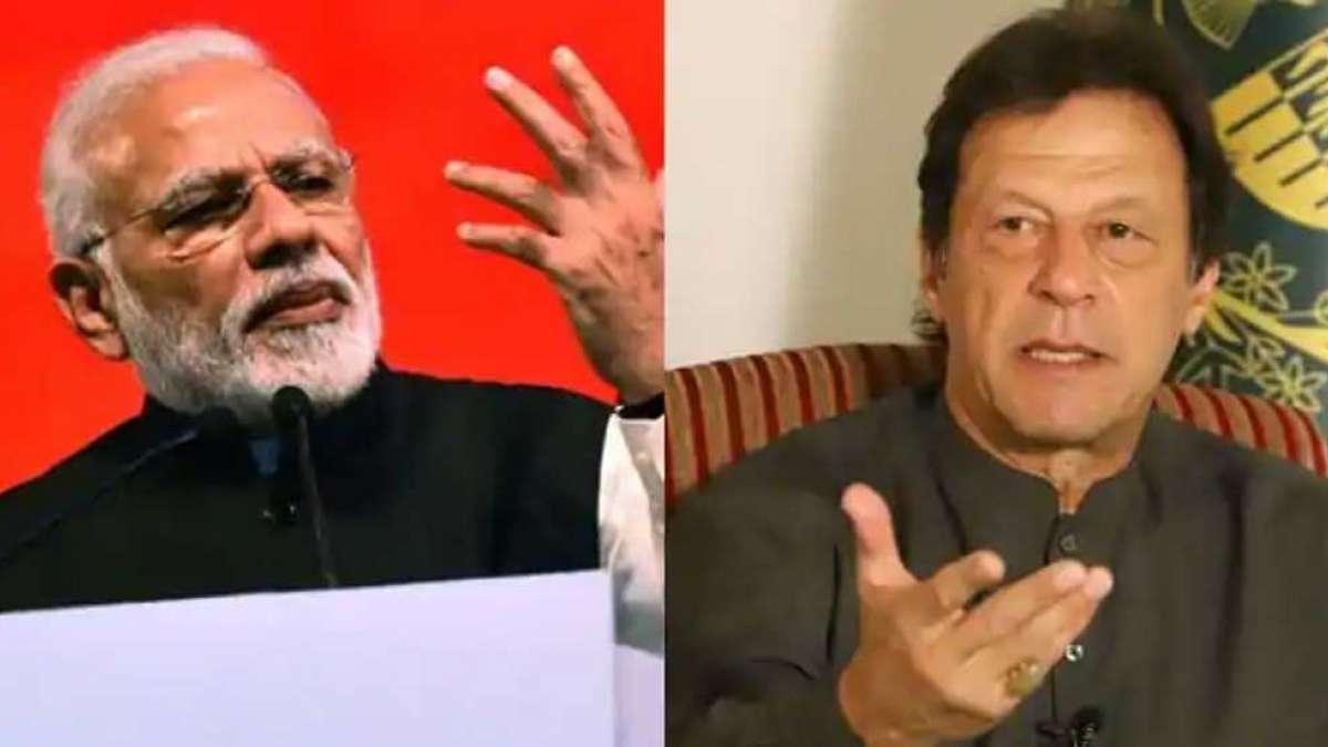 India's  Prime Minister Narendra Modi (Left) and  Pakistan's Prime Minister Imran Khan (Right)