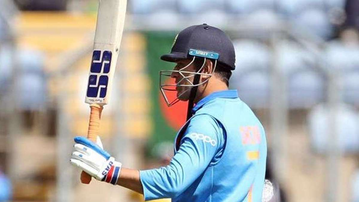 Mahendra Singh Dhoni's 'bat' hints he may retire with India's last game in world cup 2019