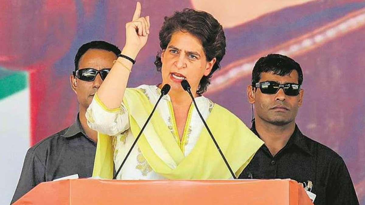'Drunk on power' BJP leaders must serve, not thrash employees: Priyanka Gandhi