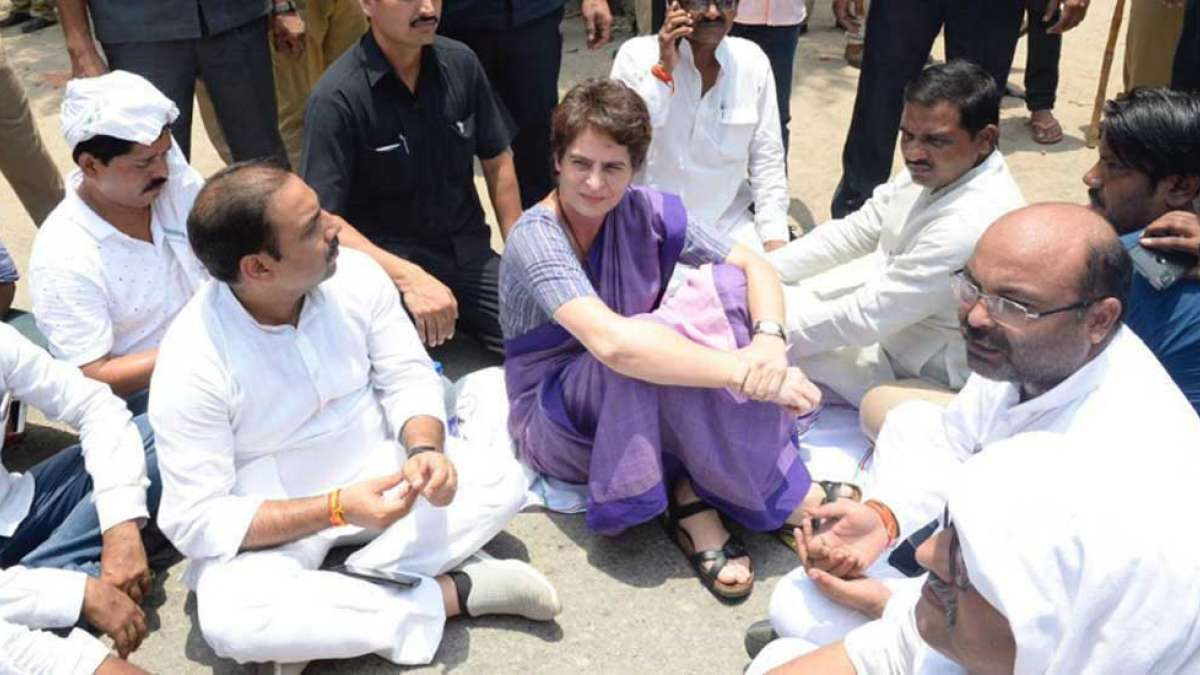 Sonbhadra Firing: Priyanka Gandhi detained from visiting kins of 10 killed
