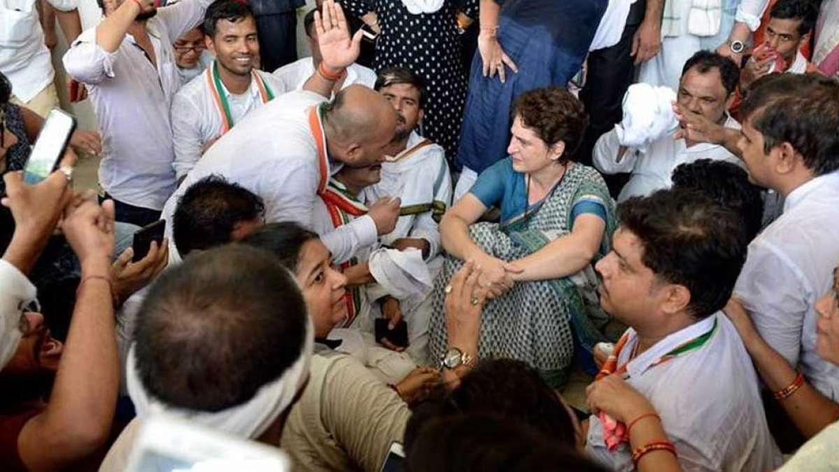 Sonbhadra Killings: Priyanka Gandhi meets victims' family members
