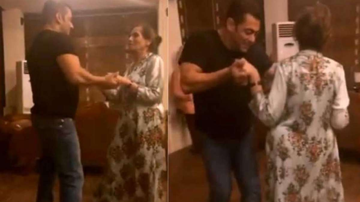 Salman Khan dances with mother on Sia's cheap thrills