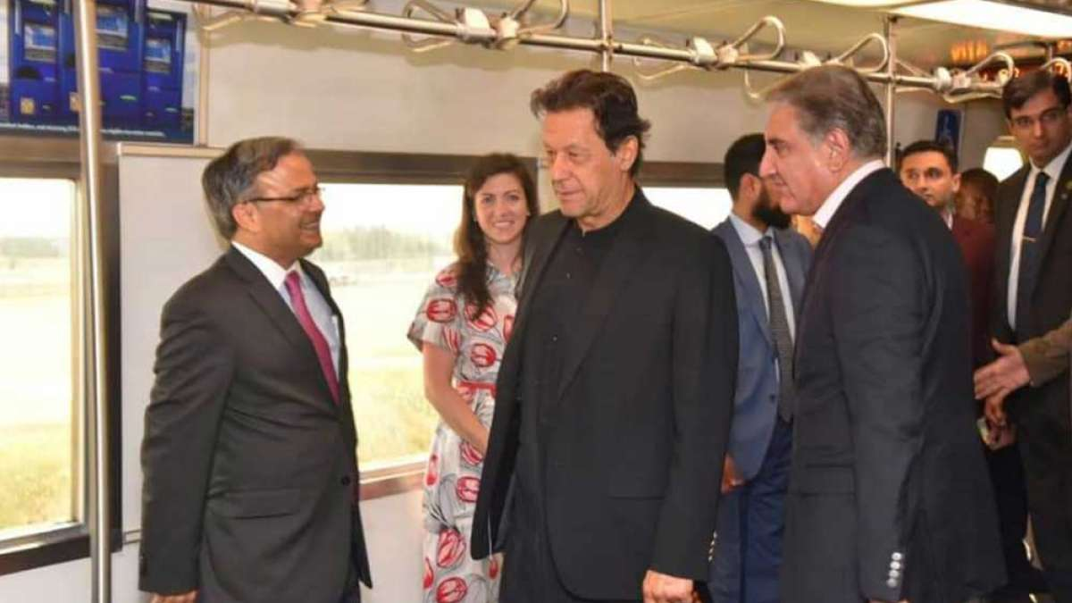 Pakistan Prime Minister Imran Khan in the metro train in the United States