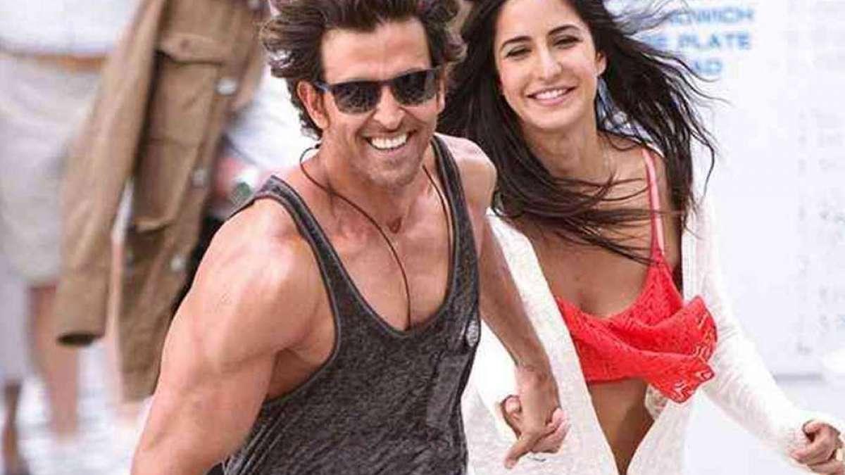 Hrithik Roshan and Katrina Kaif in a still from a movie