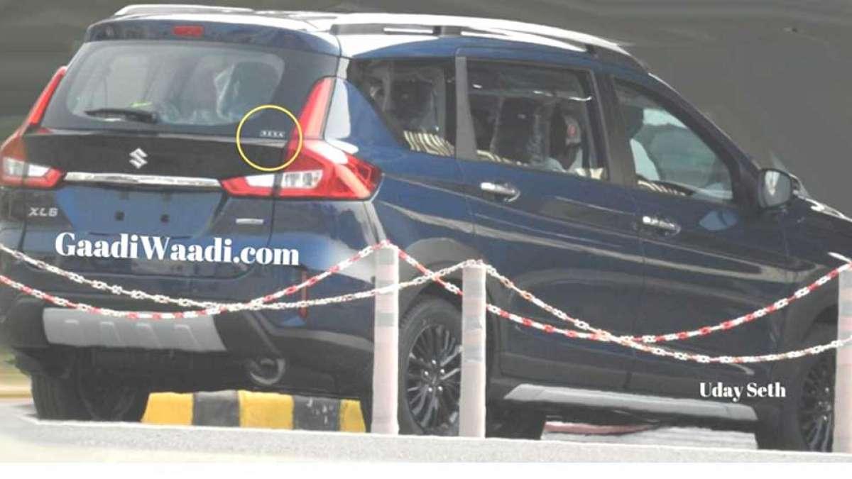 Spied: Maruti Suzuki XL6 ahead of launch in August (image: GaadiWaadi.com)