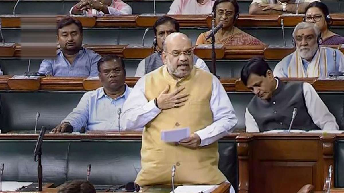 Union Home Minister Amit Shah in the Lok Sabha