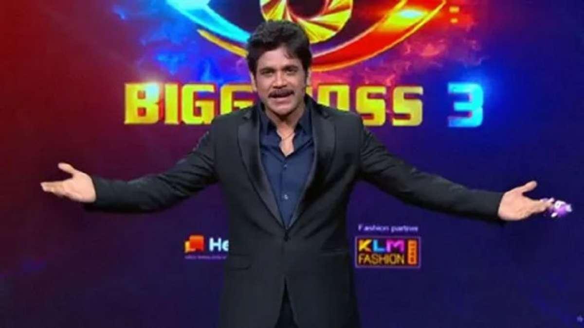 Akkineni Nagarjuna on the set of Bigg Boss Season 3