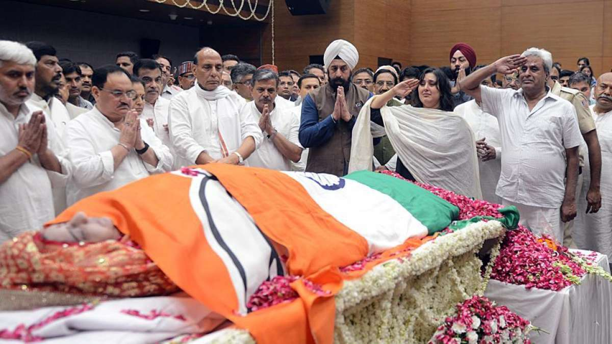 Sushma Swaraj cremated with full state honours
