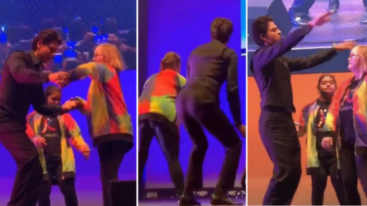 Shah Rukh Khan twerks with special kids on stage in Melbourne