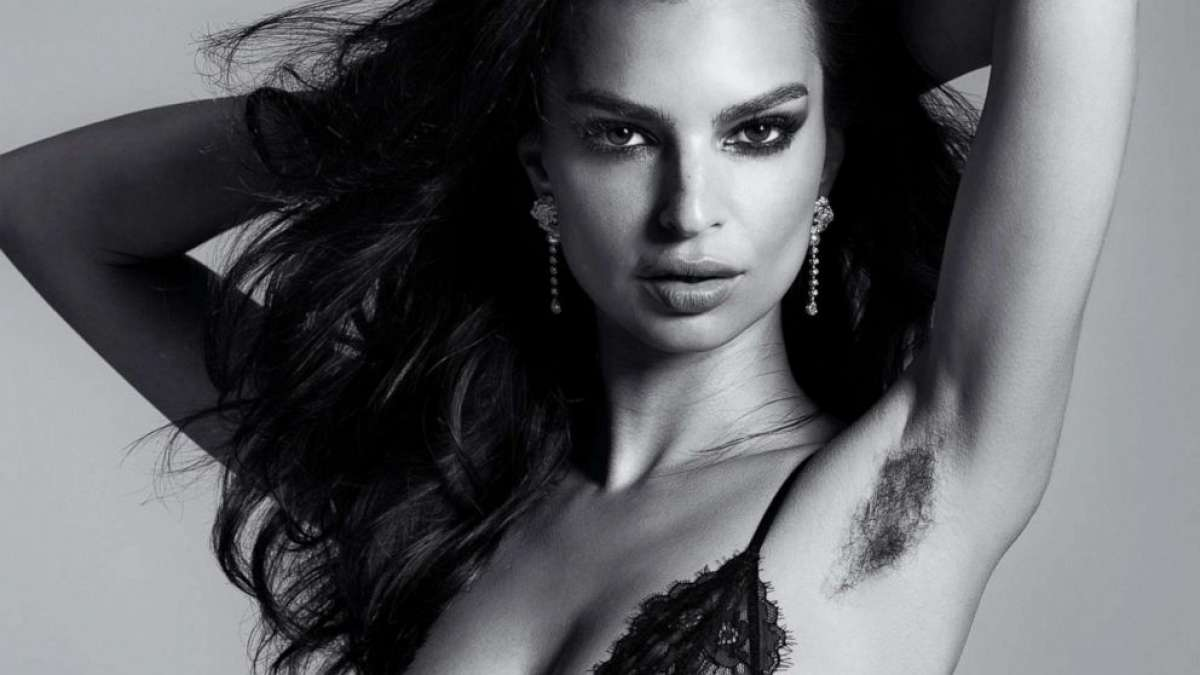 Supermodel shows off armpit hair in a powerful photoshoot