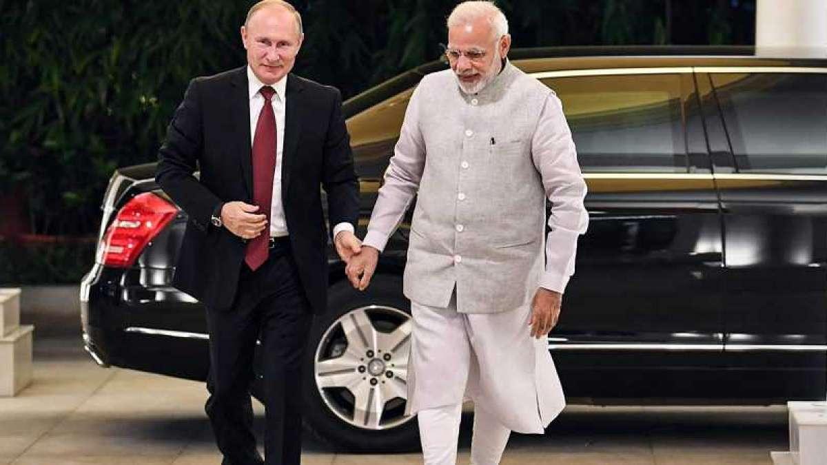Prime Minister Narendra Modi and Russia President Putin