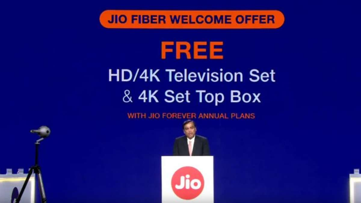 Jio Fiber welcome offer to provide free LED TVs, set top boxes