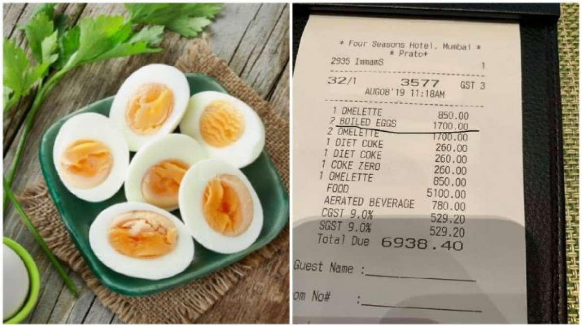 Forget Rs 442 for two bananas, a hotel charges Rs 1700 for two boiled eggs