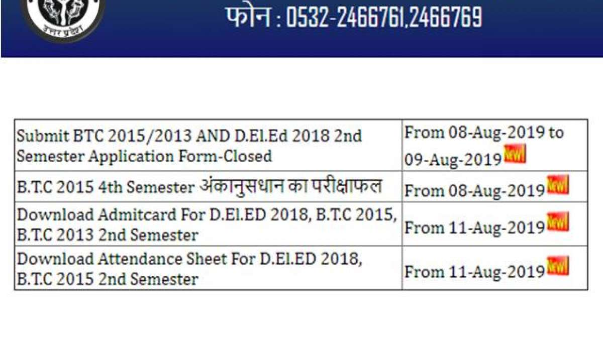 UP BTC Admit Card 2019 Released at btcexam.in; How to Download