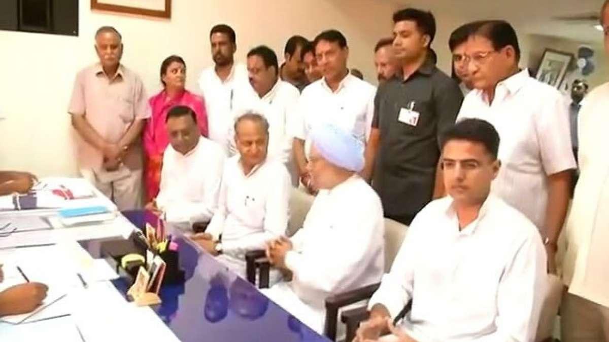 Manmohan Singh files nomination for Rajya Sabha from Rajasthan