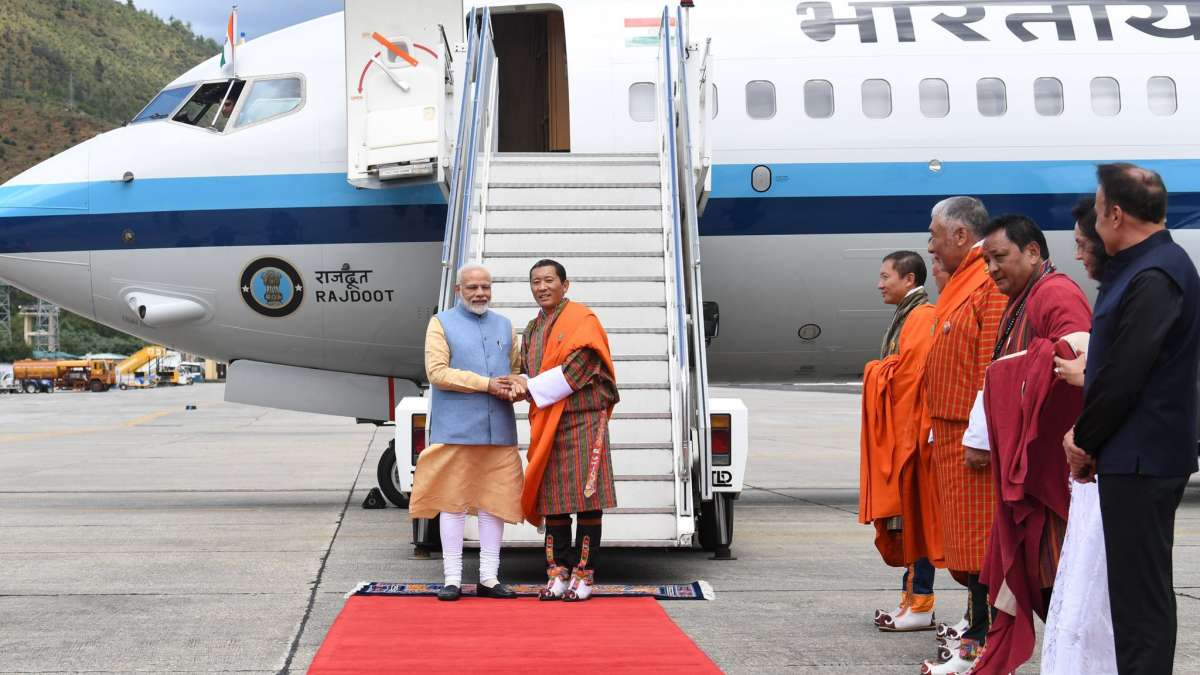 PM Modi reaches Bhutan on two-day visit to boost bilateral ties