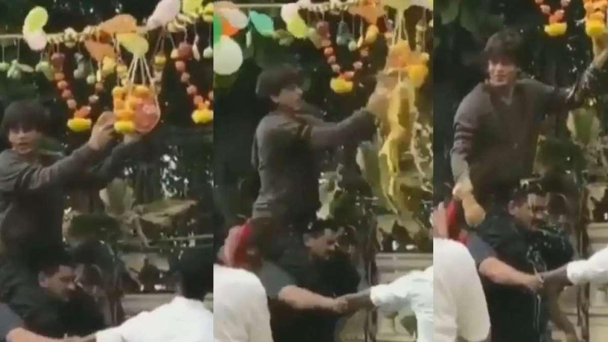 Janmashtami 2019: Shah Rukh Khan breaks Dahi Handi in celebrations