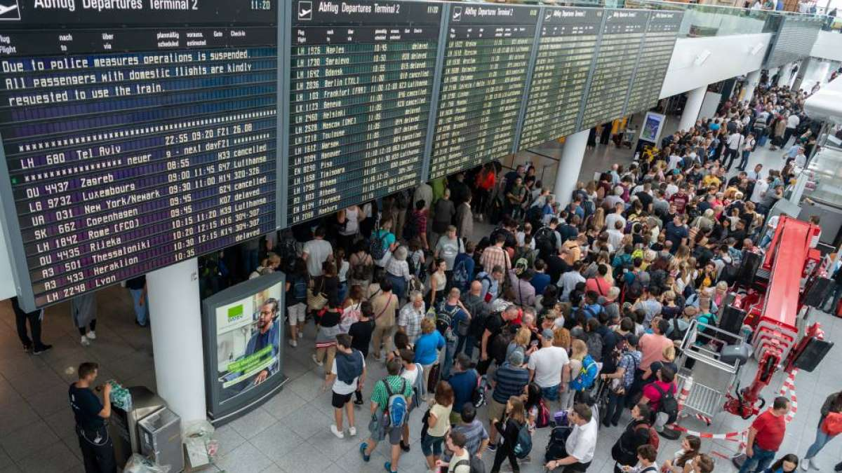 200 flights cancelled as a young man walks through wrong door at Munich airport
