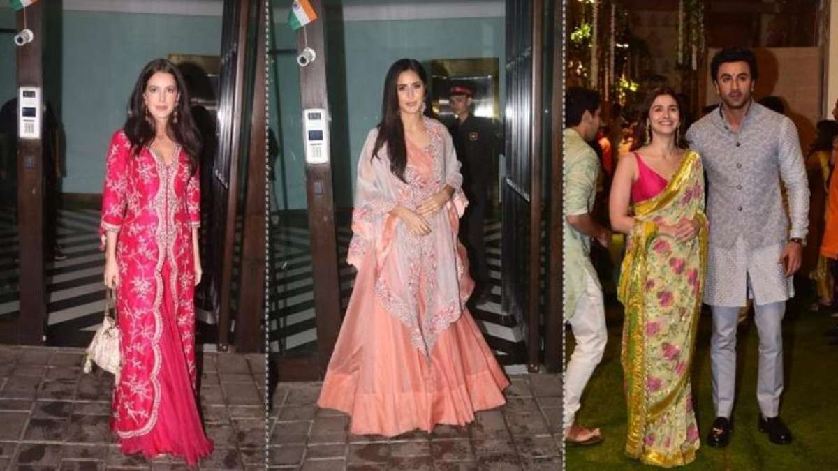 Ganesh Chaturthi Celebrations: Katrina Kaif performs Aarti with Salman Khan and family