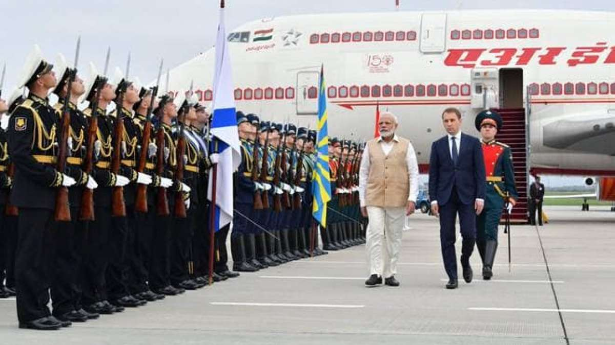 PM Narendra Modi arrives in Russia on two-day visit
