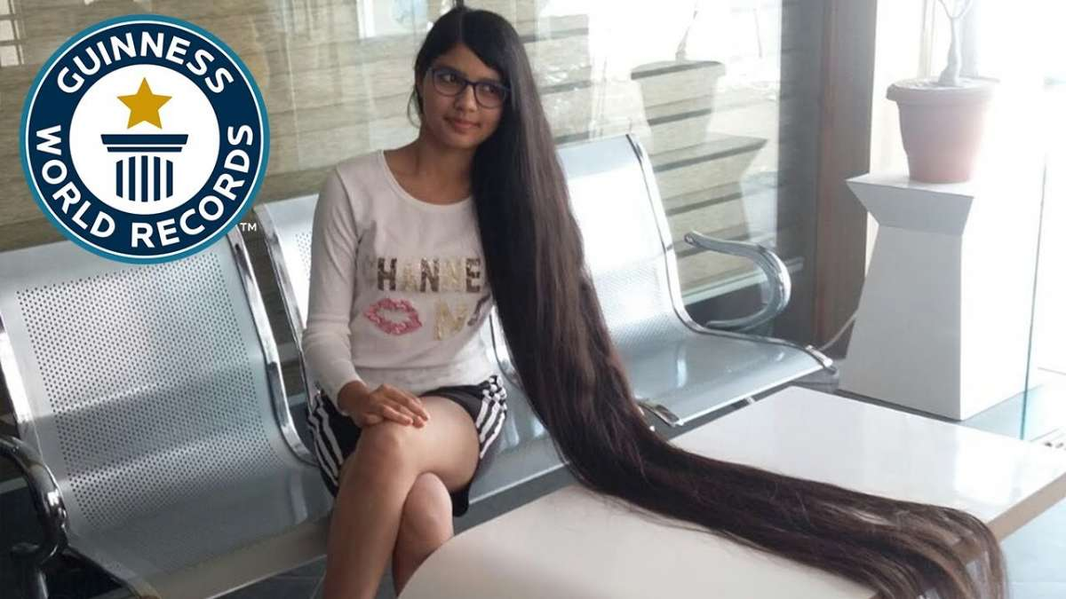 Indian girl breaks Guinness World Record for longest hair on a teenager