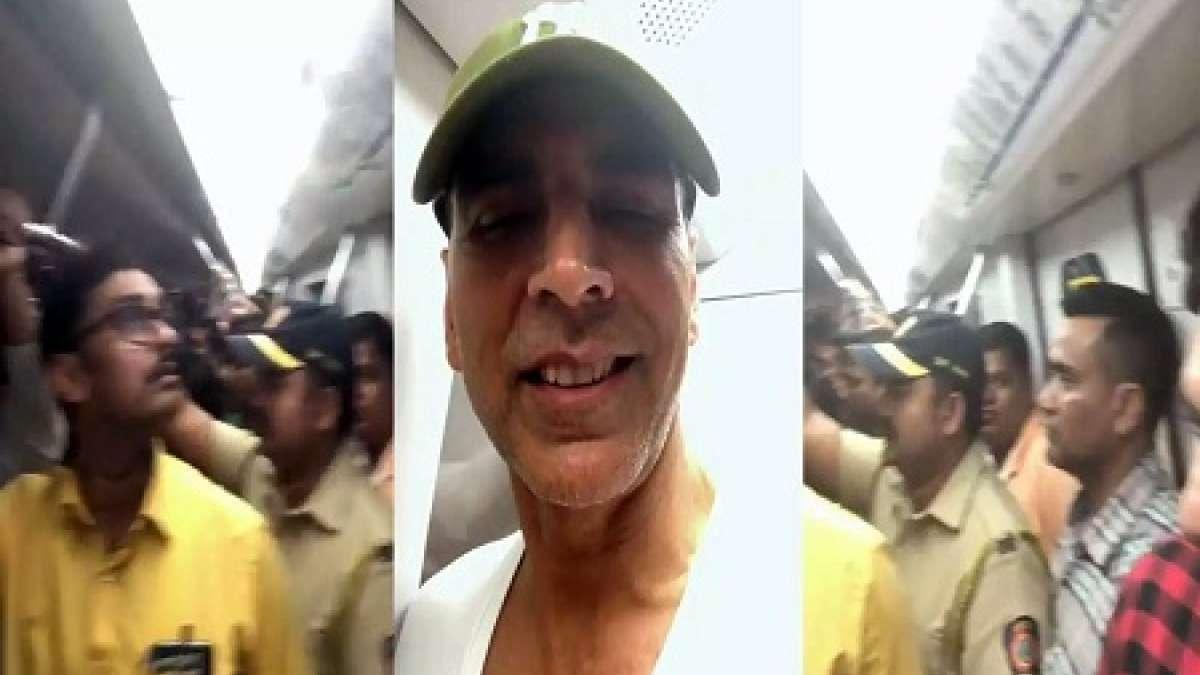 Video: Akshay Kumar rides Mumbai Metro, to avoid traffic