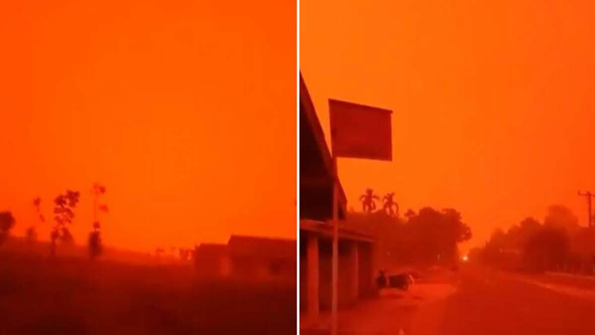 Rayleigh Scattering: Blood red colour sky engulfs Indonesia