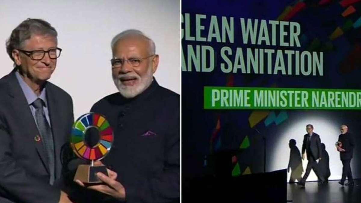 Swachh Bharat Abhiyan: PM Modi receives Goalkeepers award