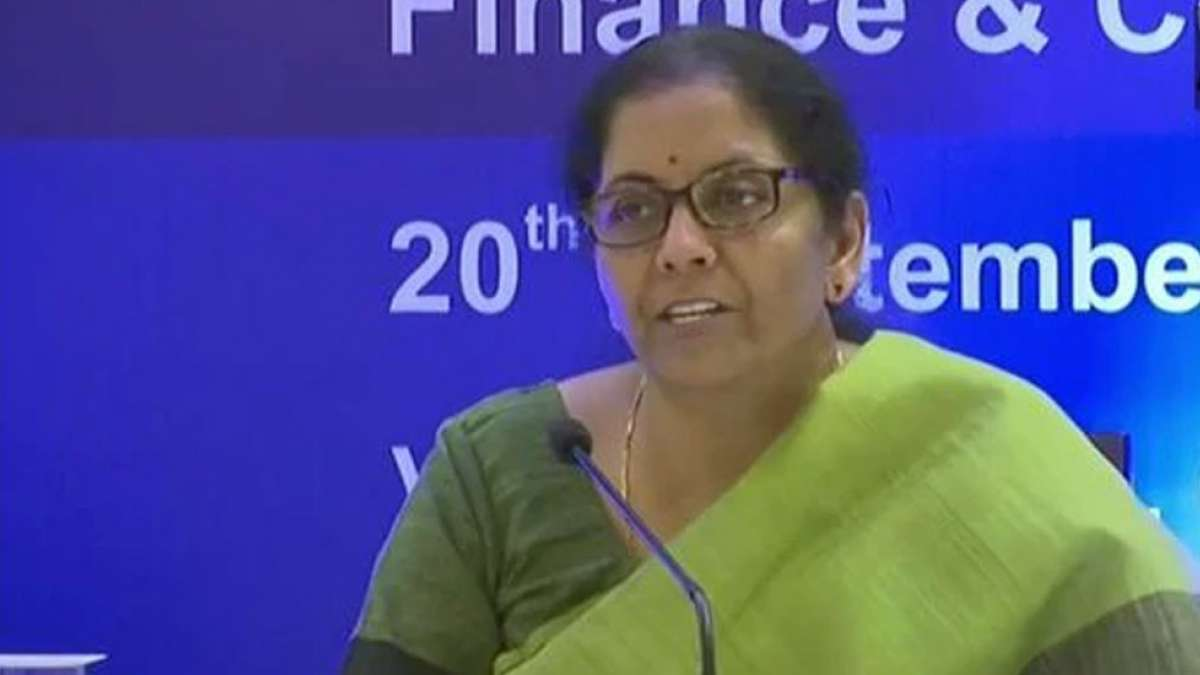 Nirmala Sitharaman announces corporate tax rate cut from 30% to 22%