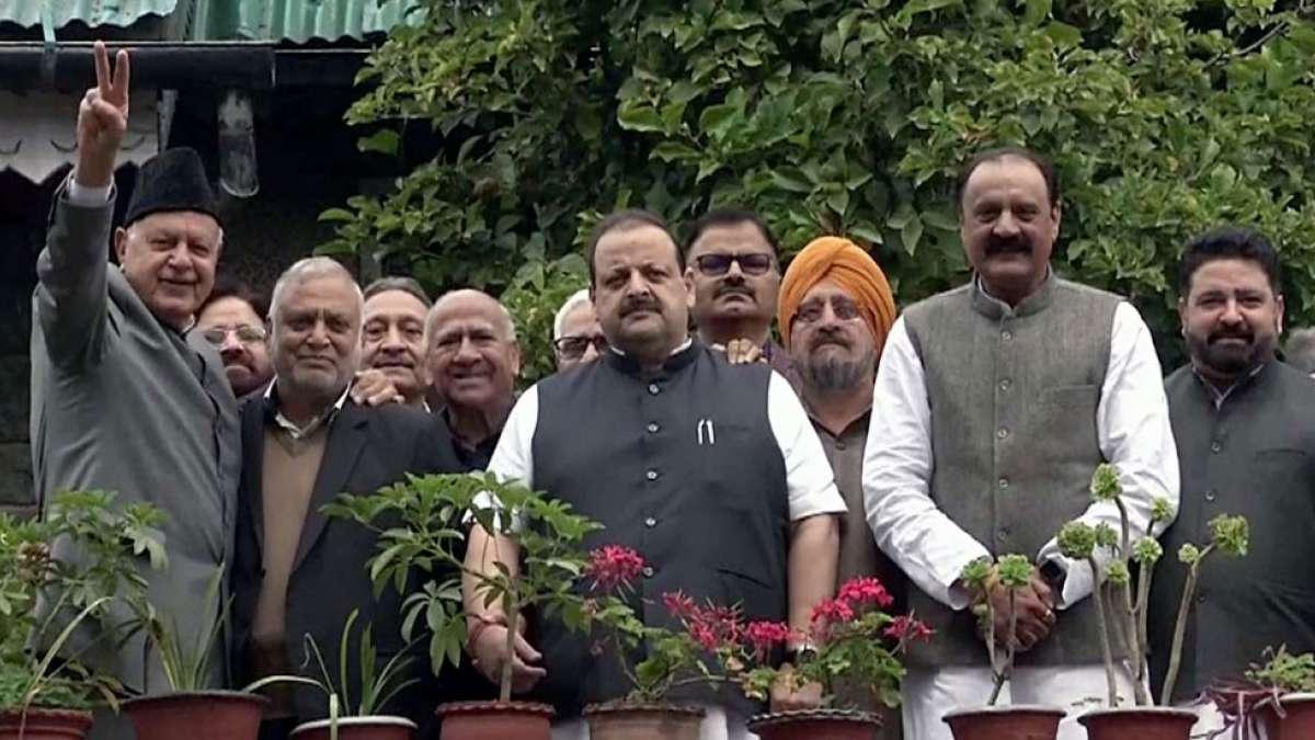 NC leaders meet Farooq Abdullah