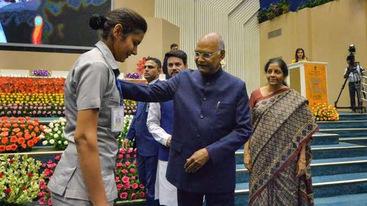 President Ram Nath Kovind, Nirmala Sitharaman rush to help cop after she collapsed